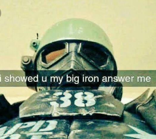 BIG IRON ON HIS HIP - meme