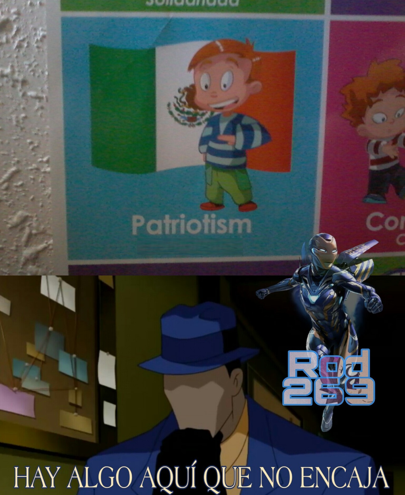 Mi Primo Tenía En Su Cuarto Este Poster Que Dice Patriotismo Mexicano En Inglés - meme
