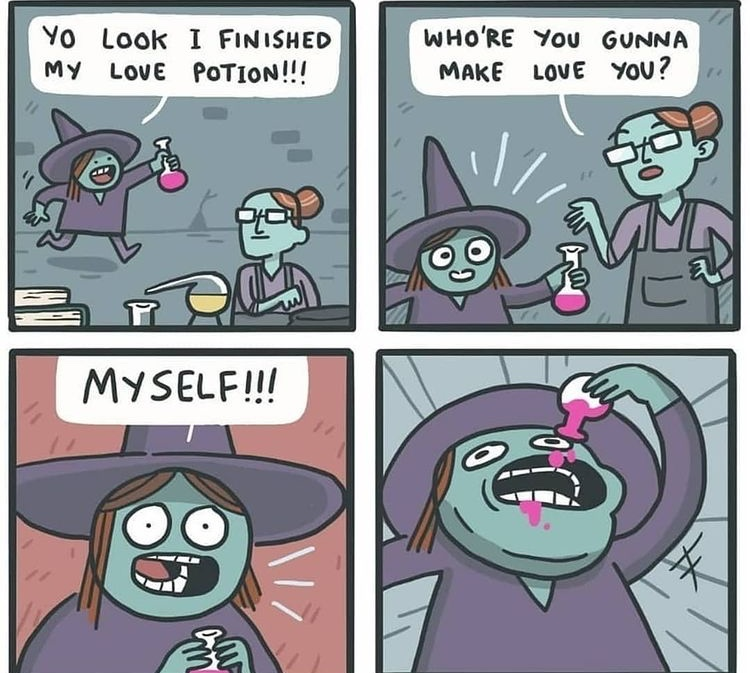 how to love yourself witch style - meme