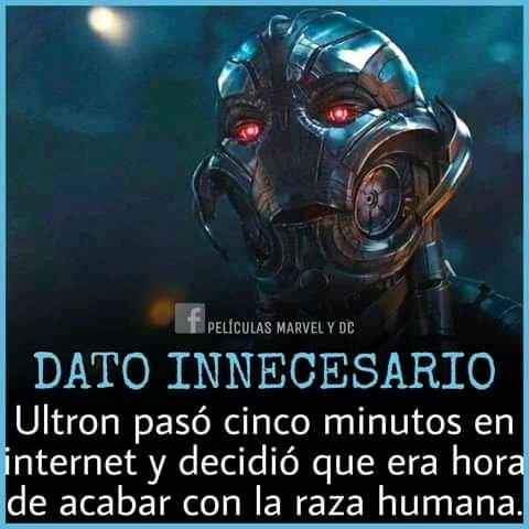 Ultron vio los baits mal hechos de homodroid - meme