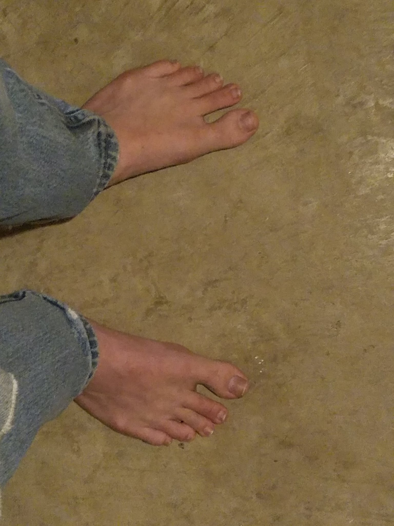 These are my feet for all you horny faggots on August 1st - meme