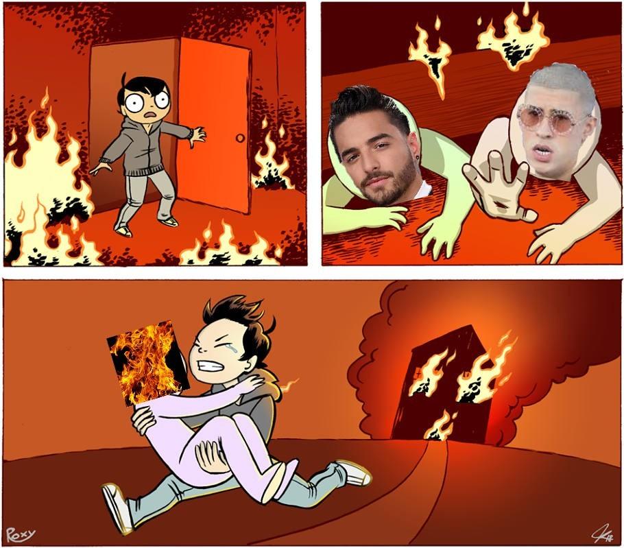 Corre fueguito - meme