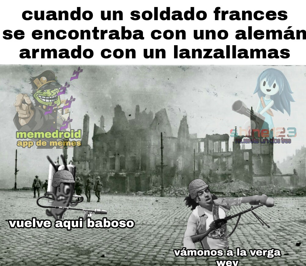 ya busque cual era el armamento de la ww1 :allthethings: - meme