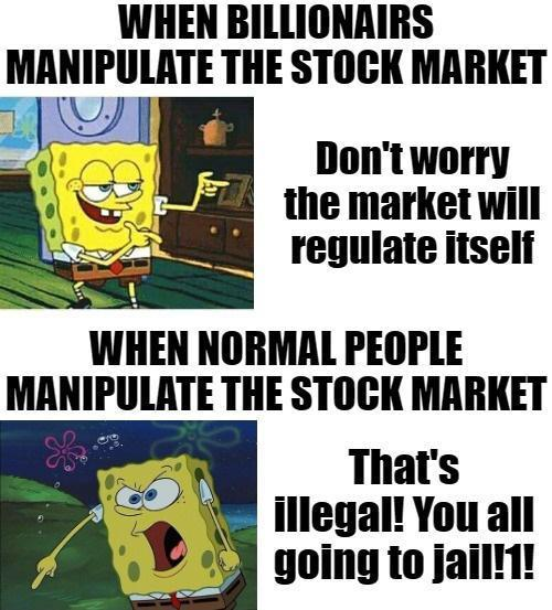 It's funny to see the rich calling for more regulations once - meme