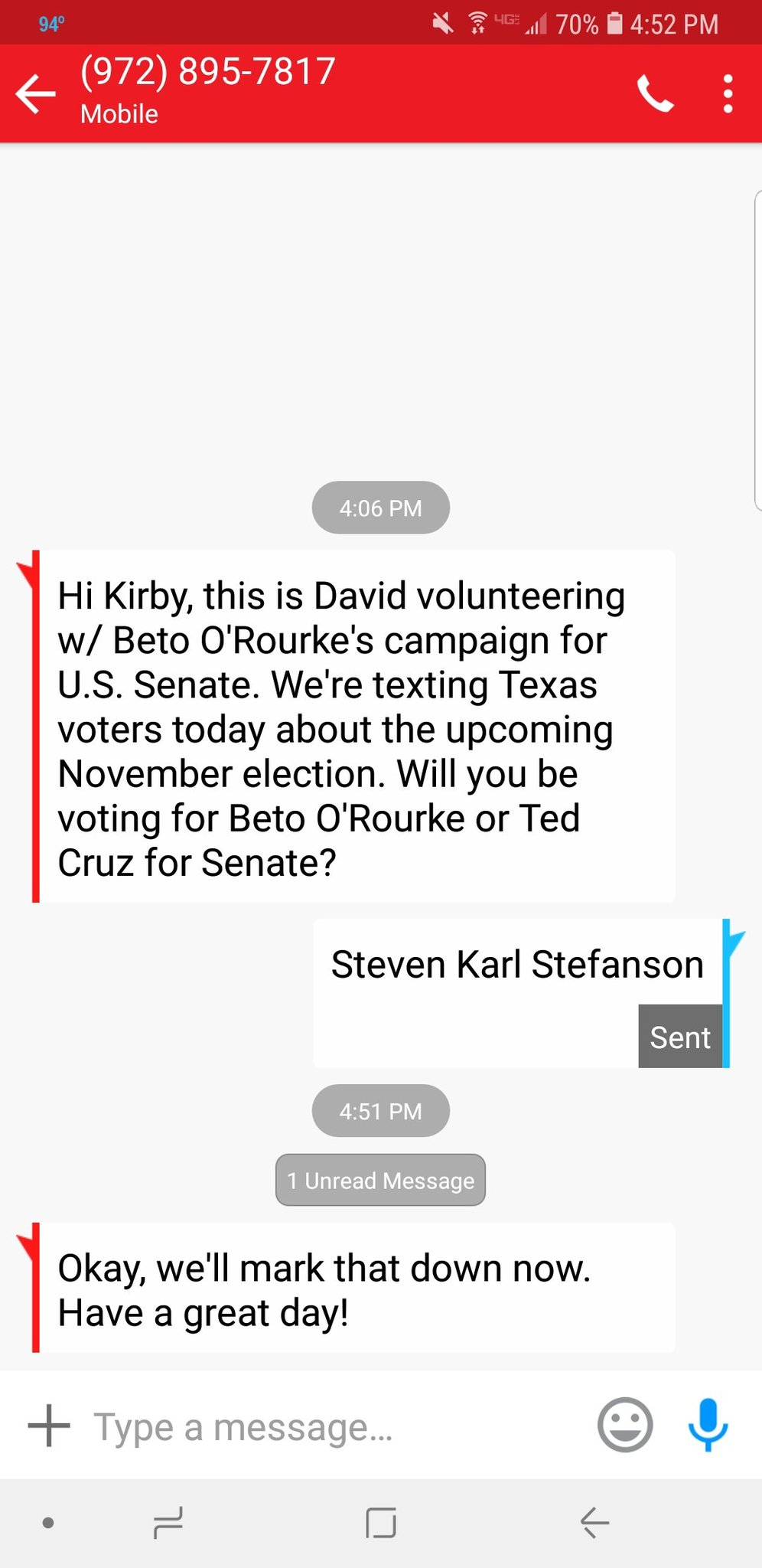 Steven has my vote...He is and always will be Number 1:') - meme