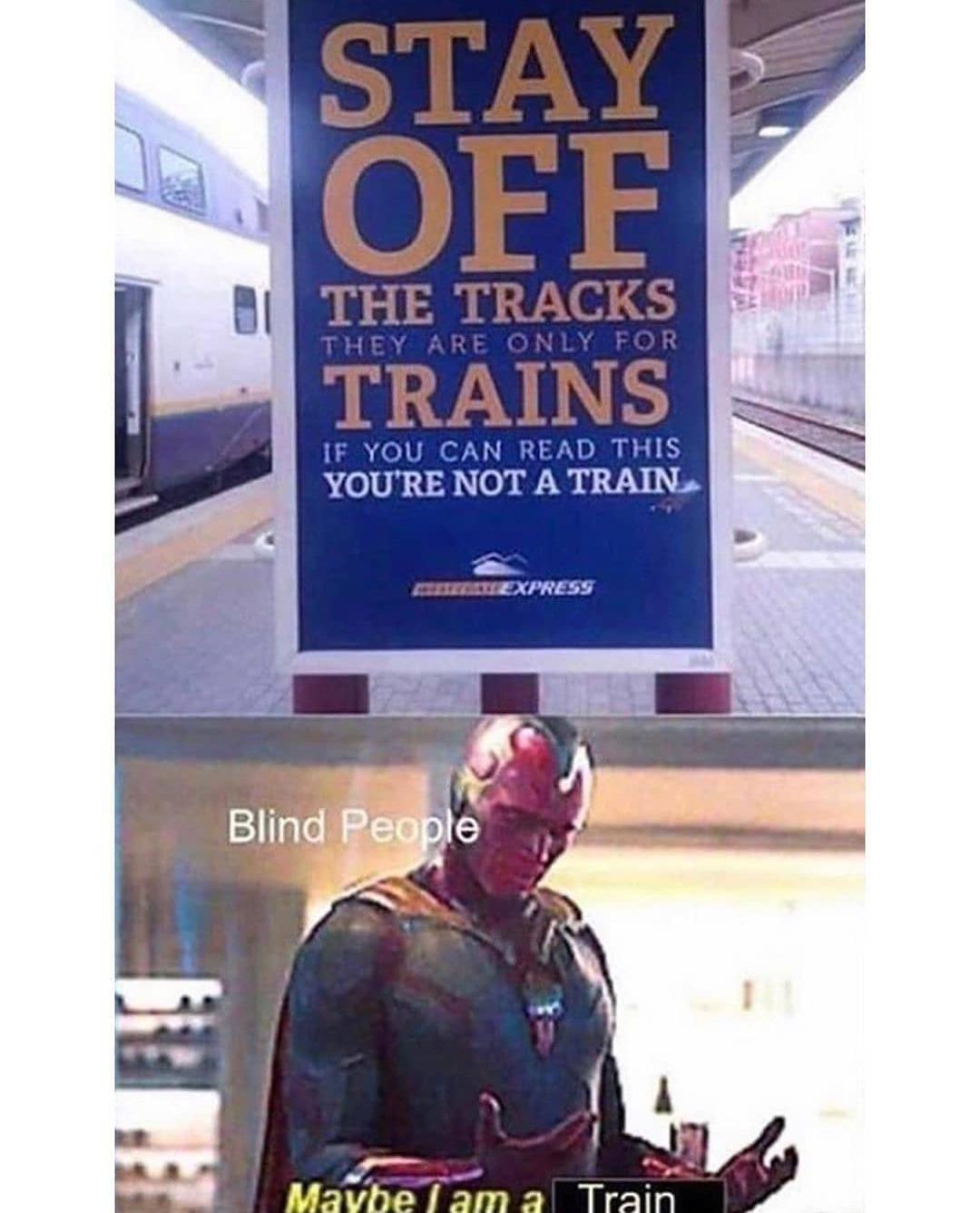 I like train - meme