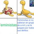 The opposing feminist's protection was broken