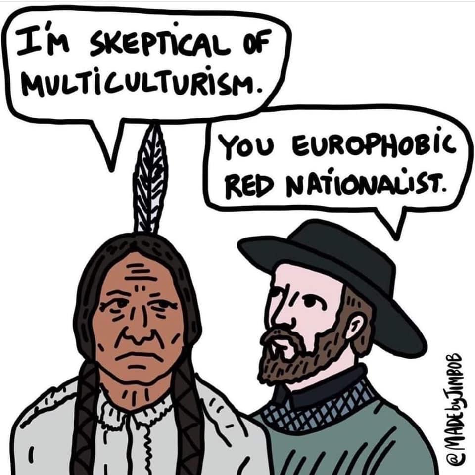 thanksgiving isn't racist - meme