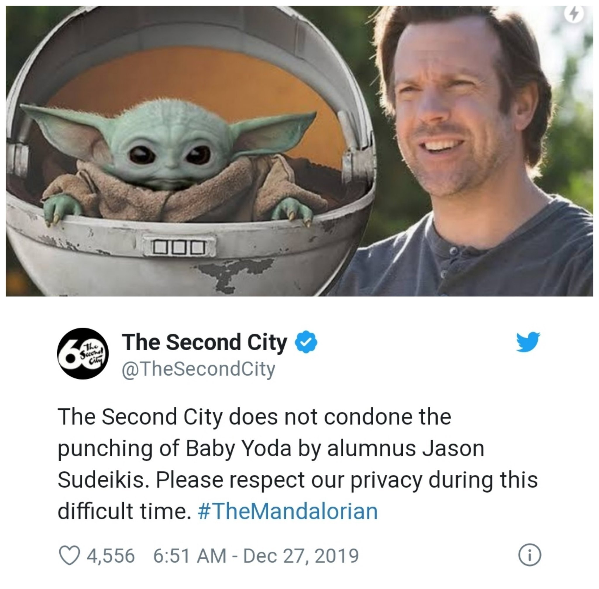 Hes one of the stormtroopers who hit Baby Yoda if you didnt know! - meme