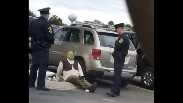 These cops know better then to mess with shrek - meme