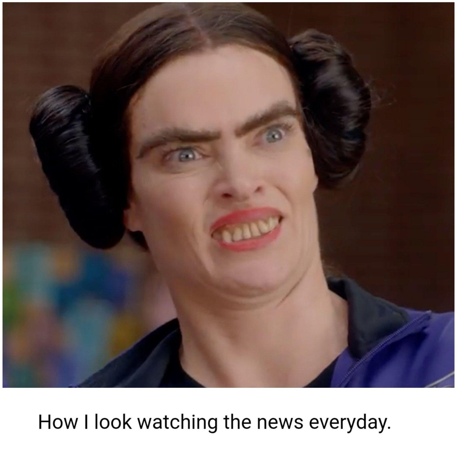 News hurts the brain - meme