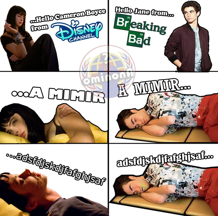 Hi Jane from Breaking Bad, Hi Cameron from Disney - meme