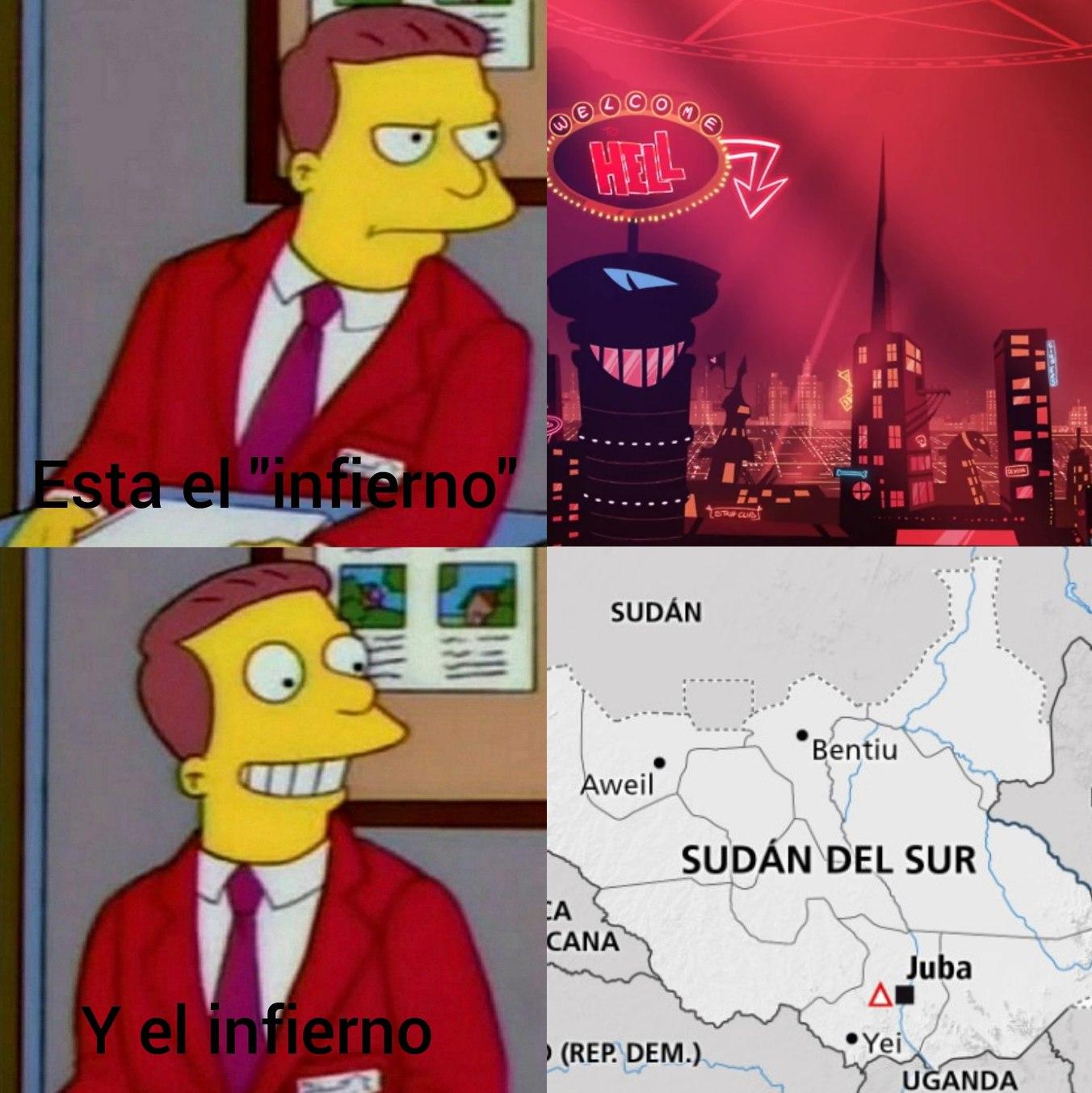 Un auténtico infierno - meme