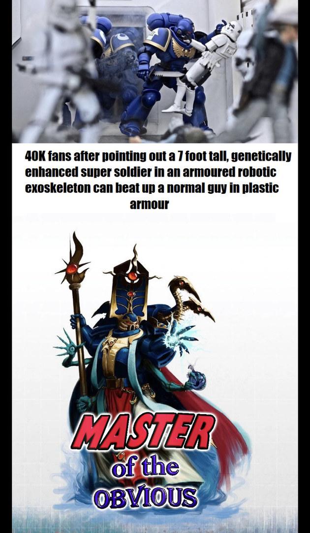 Warhammer 40,000 is the best Sci-fi universe - meme