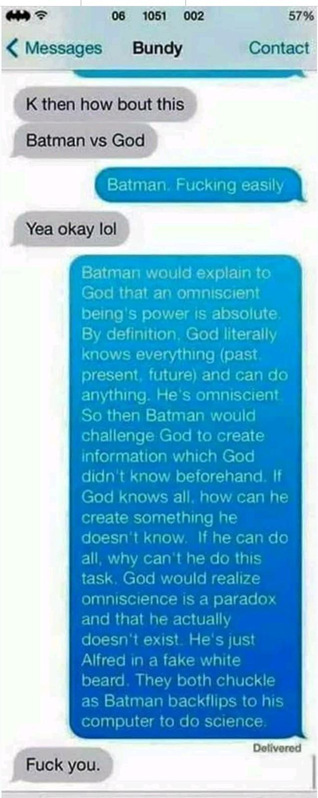 He is batman! - meme