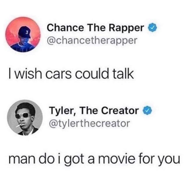 Talking cars - meme