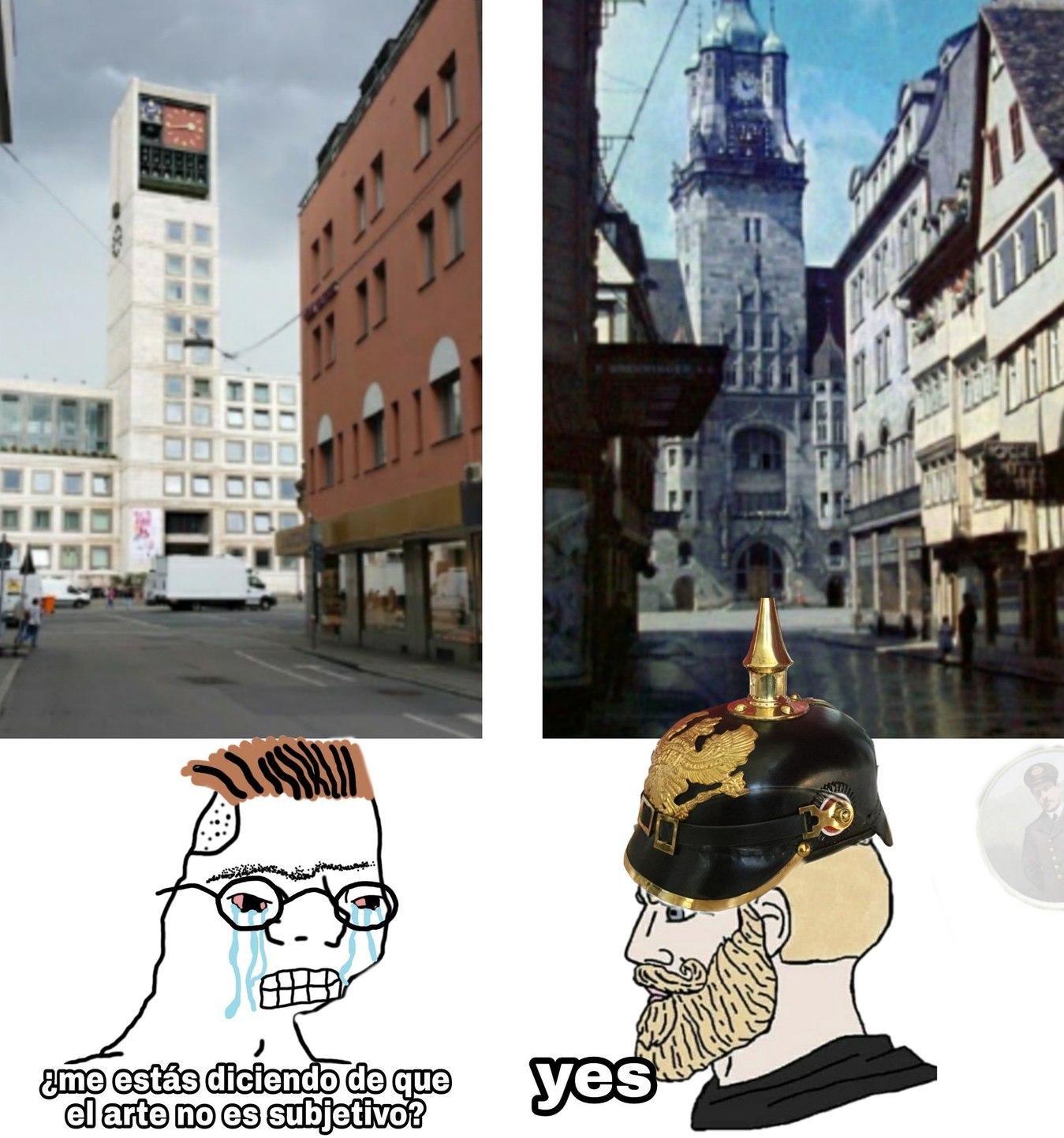 Las fotos son la misma calle, pero en distinta época. Pd: está vez si está justificado utilizar al nordic yes - meme