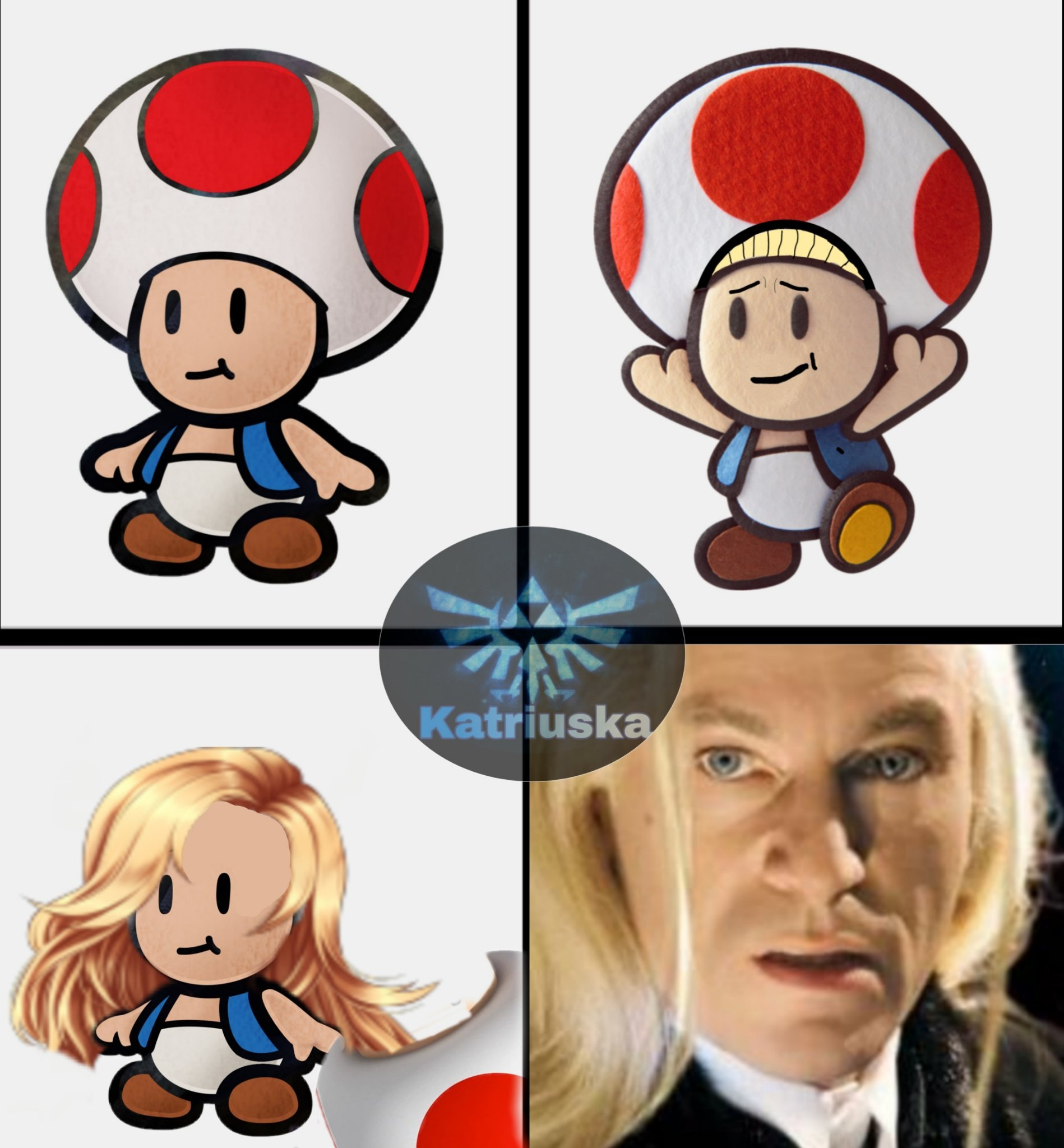 Toad y su oscuro secreto - meme