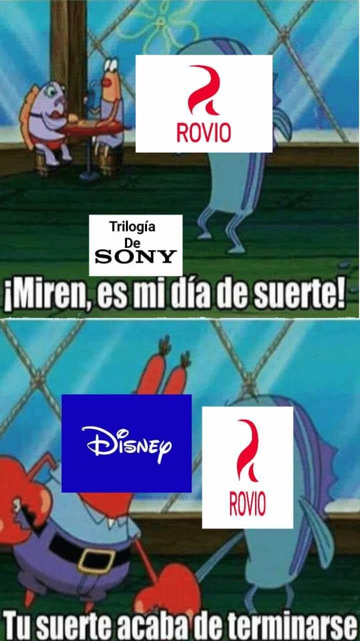 Disney y Sony in a nutshell - meme