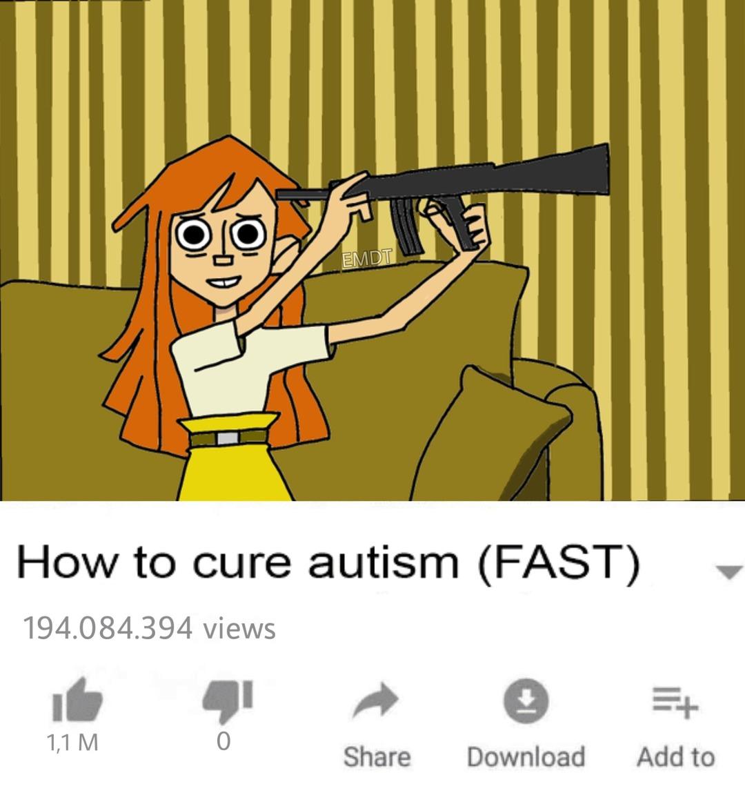 como curar el autismo de manera rapida - meme