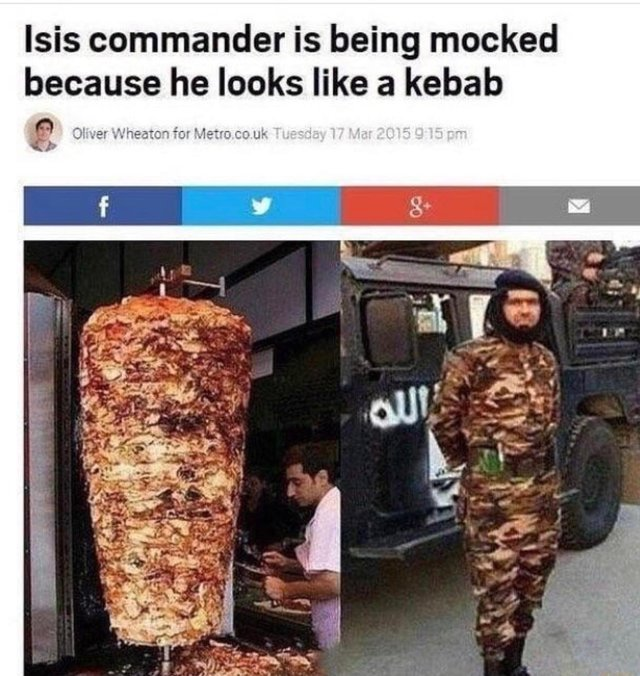 ISIS commander looks like a kebab - meme
