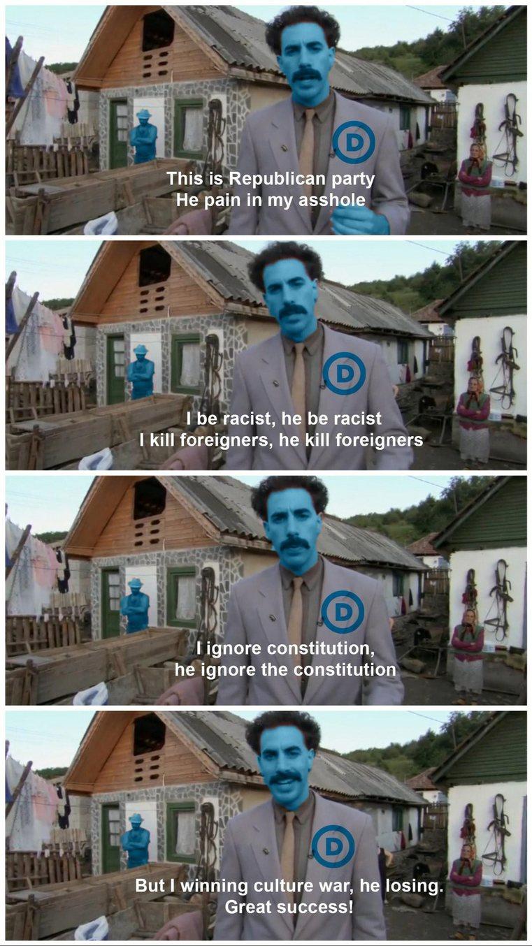 Democrats be like - meme