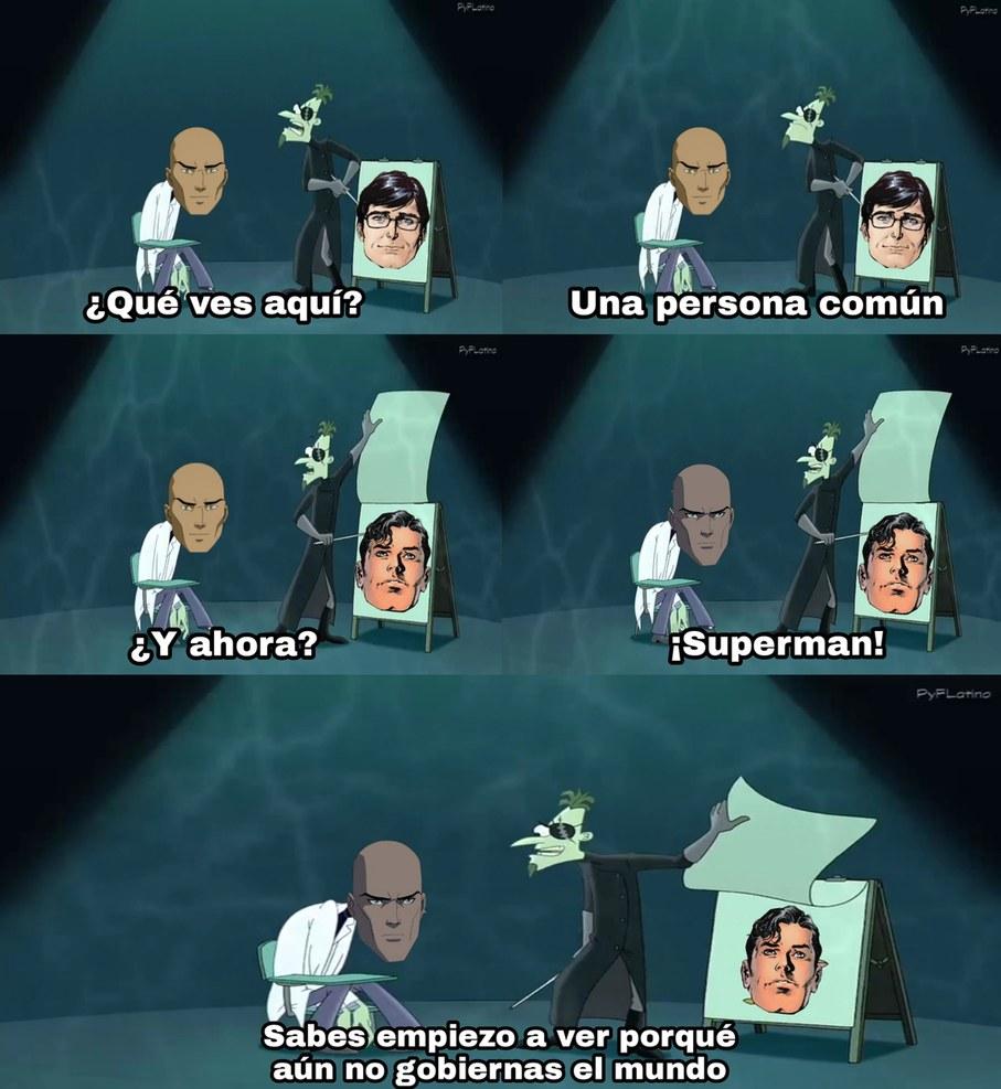 Superman es Clark Kent - meme
