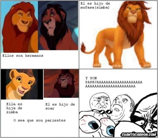 La endogamia en el rey león - meme