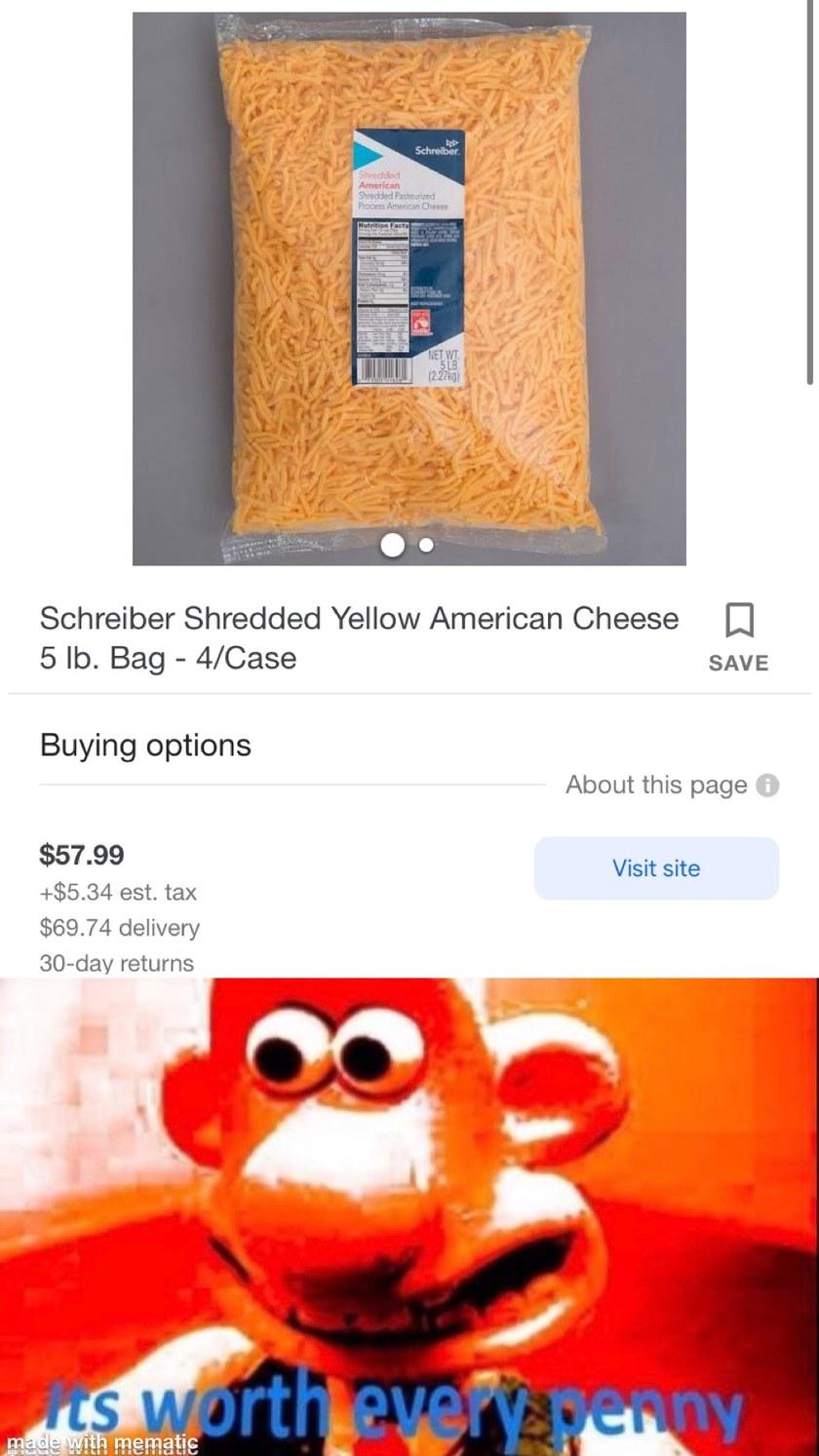Shredded cheese - meme