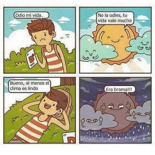 El clima - meme