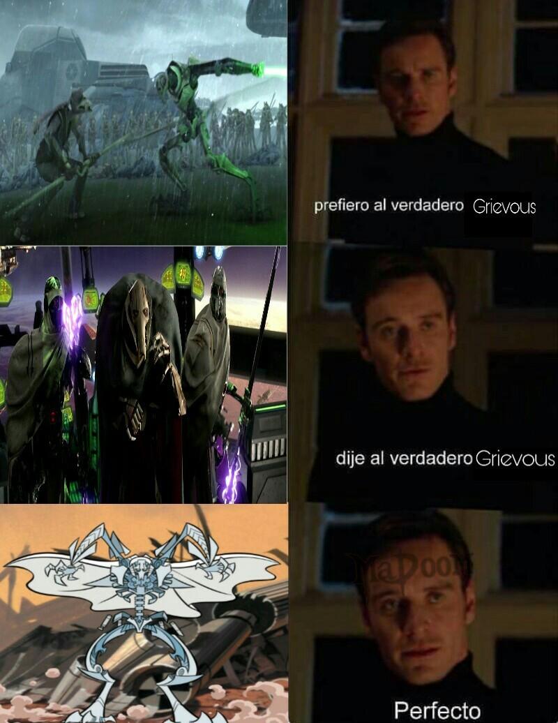 The Clone Wars, la venganza de los Sith, y Clone Wars - meme