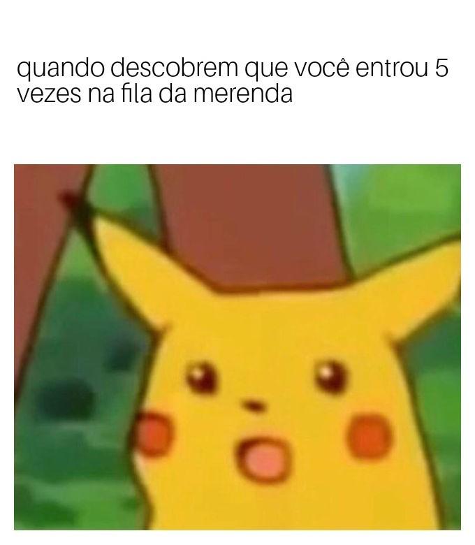 Pikachu merenda - meme