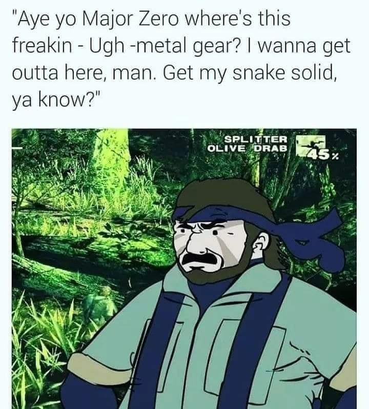 Hey Fry-Man, I got a snake you can eat, you know what I'm sayin'?! - meme