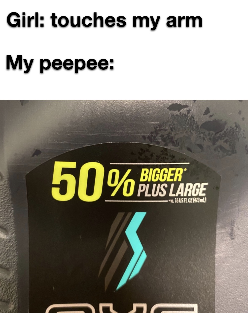 50% bigger plus large - meme
