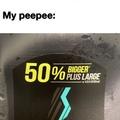 50% bigger plus large
