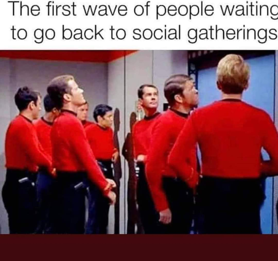 Red shirts die first - meme