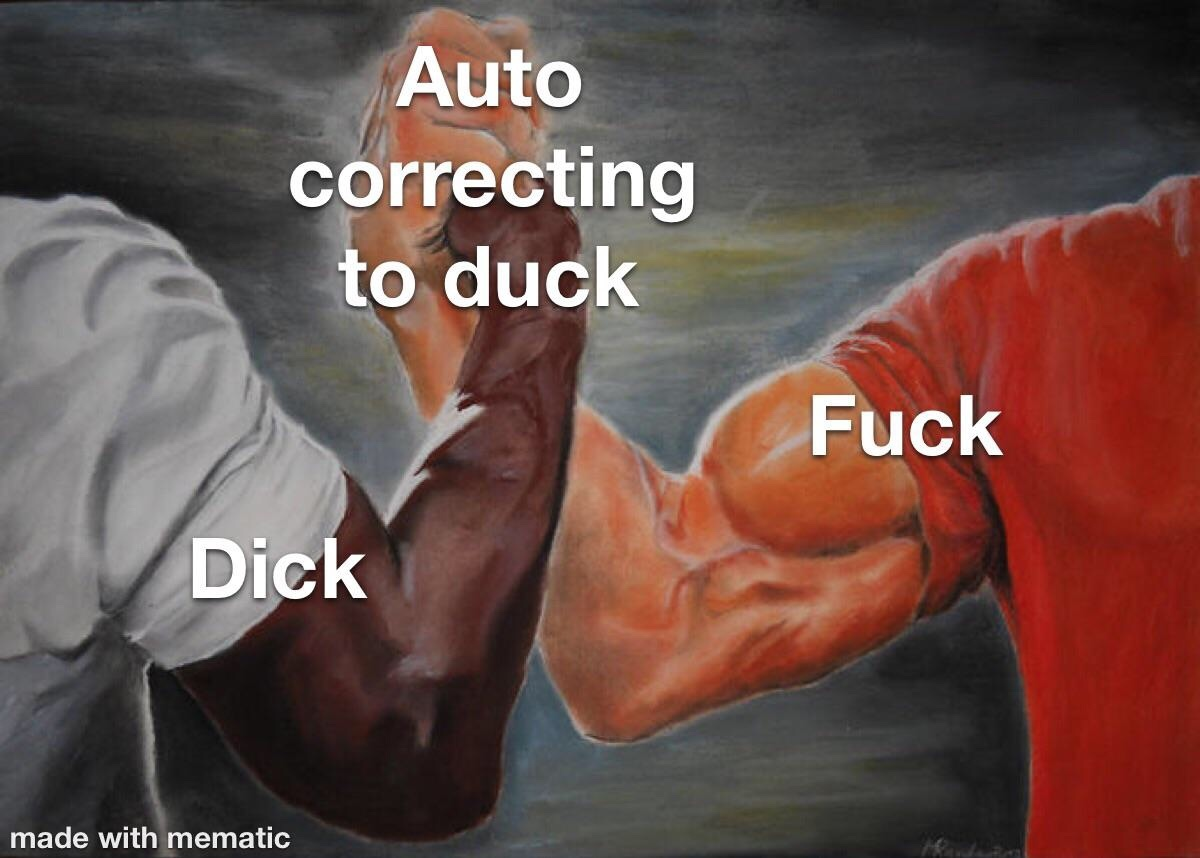suck my duck - meme