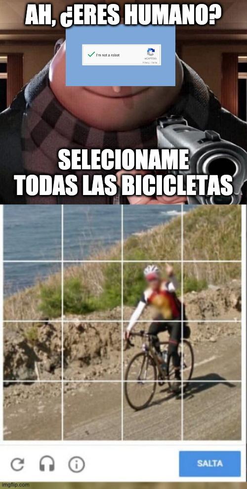Las bicicletas por favor - meme