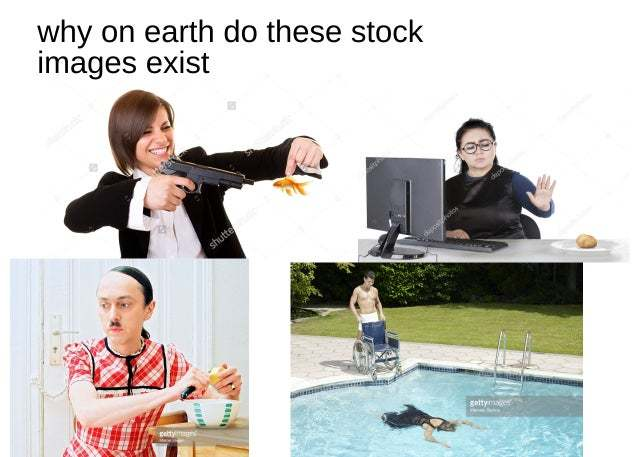 Why on earth do these stock images exist? - meme