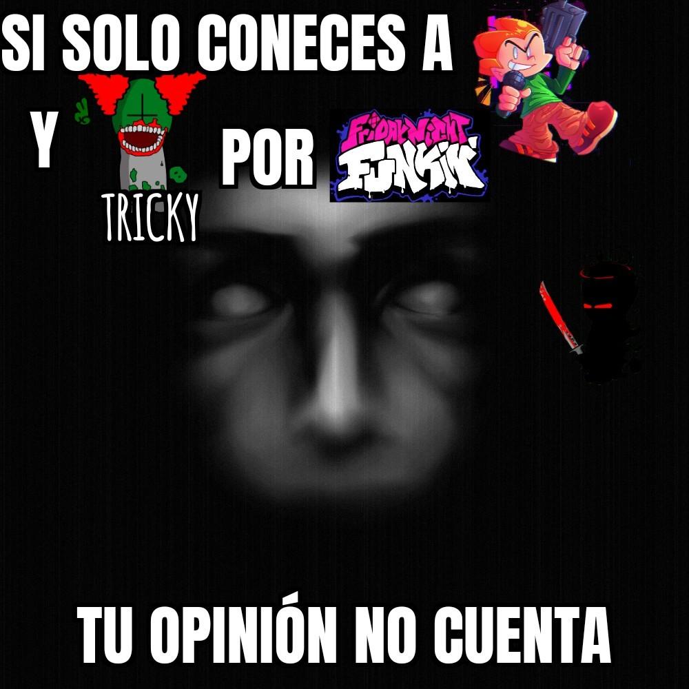 Pico es de pico school y tricky de madness combat - meme