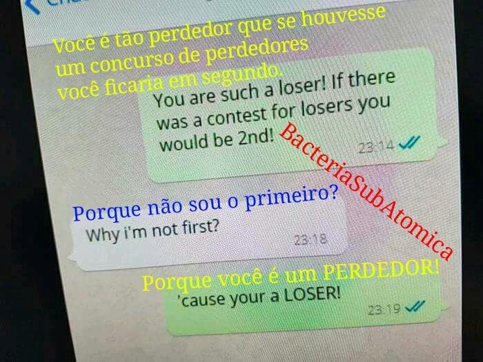 Mesmo um perdedor pode vencer como uma piada - meme