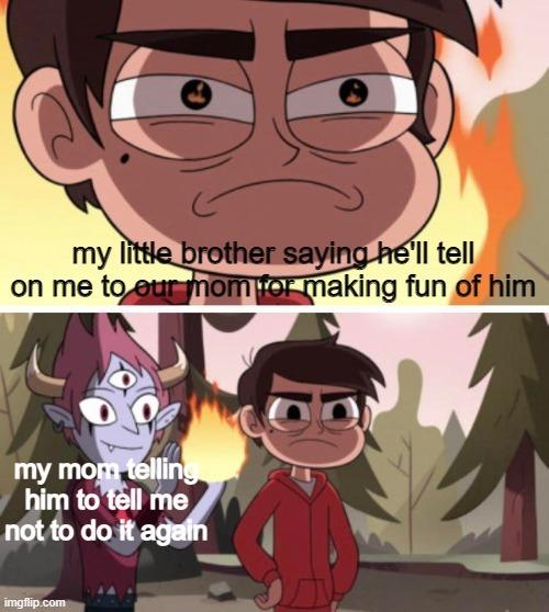 """I'm telling mom!"" - meme"