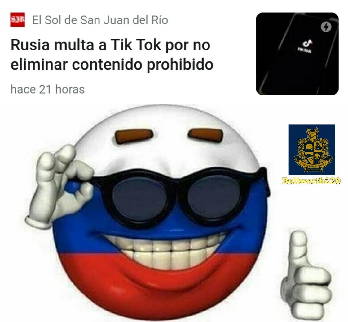 Todos unos capos los rusos - meme