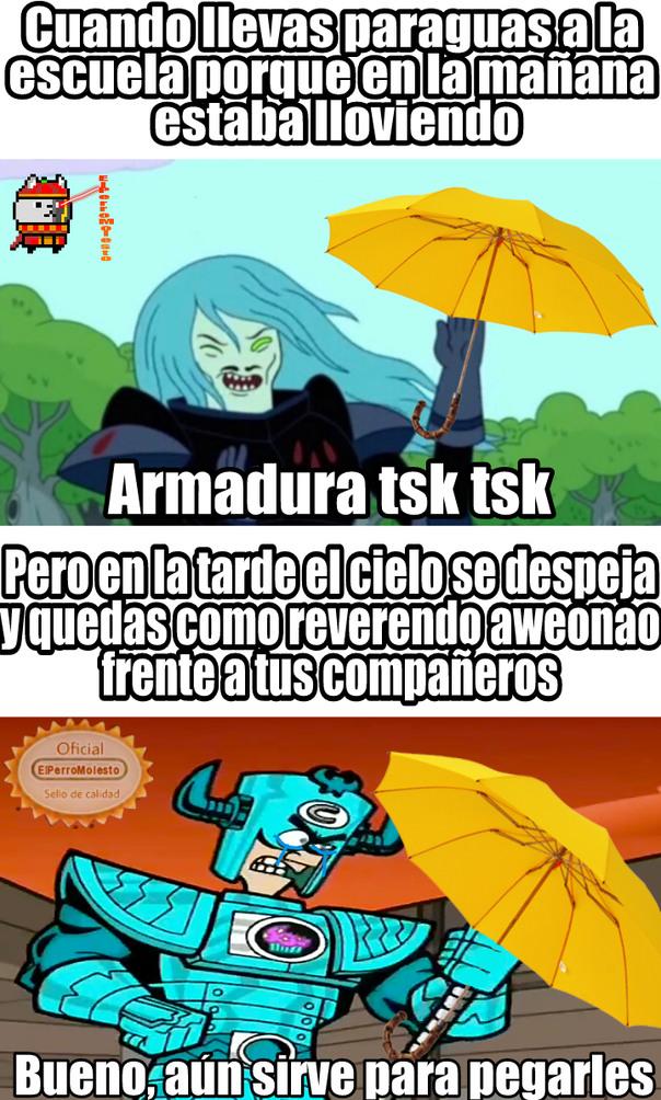 Wea que me pasa siempre que llueve >:( - meme