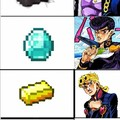 Jotaro no encaja pero los otros 3 sus nombres son ese material