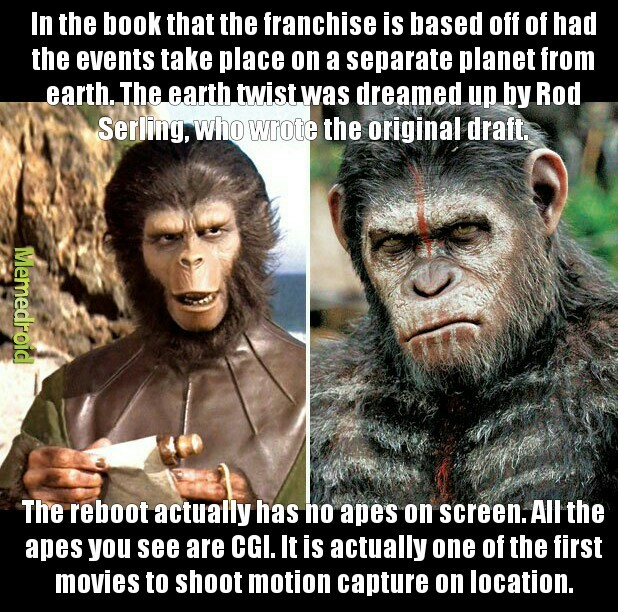 The Planet of the Apes Franchise (1968-????) - meme