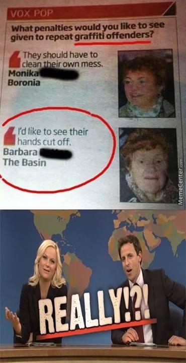 Scary old lady... - meme