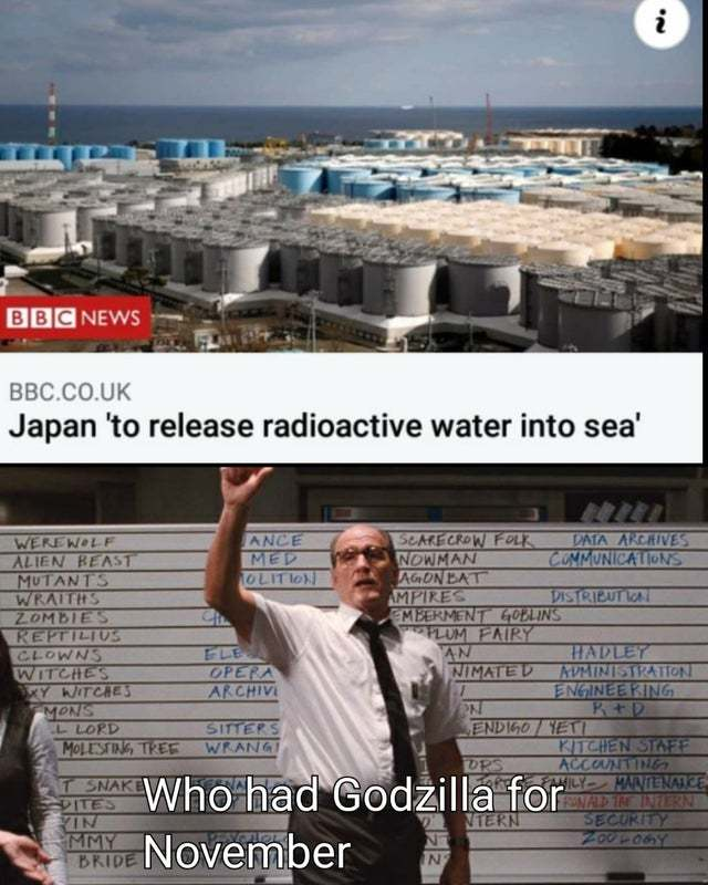 Japan to release radioactive water into sea - meme