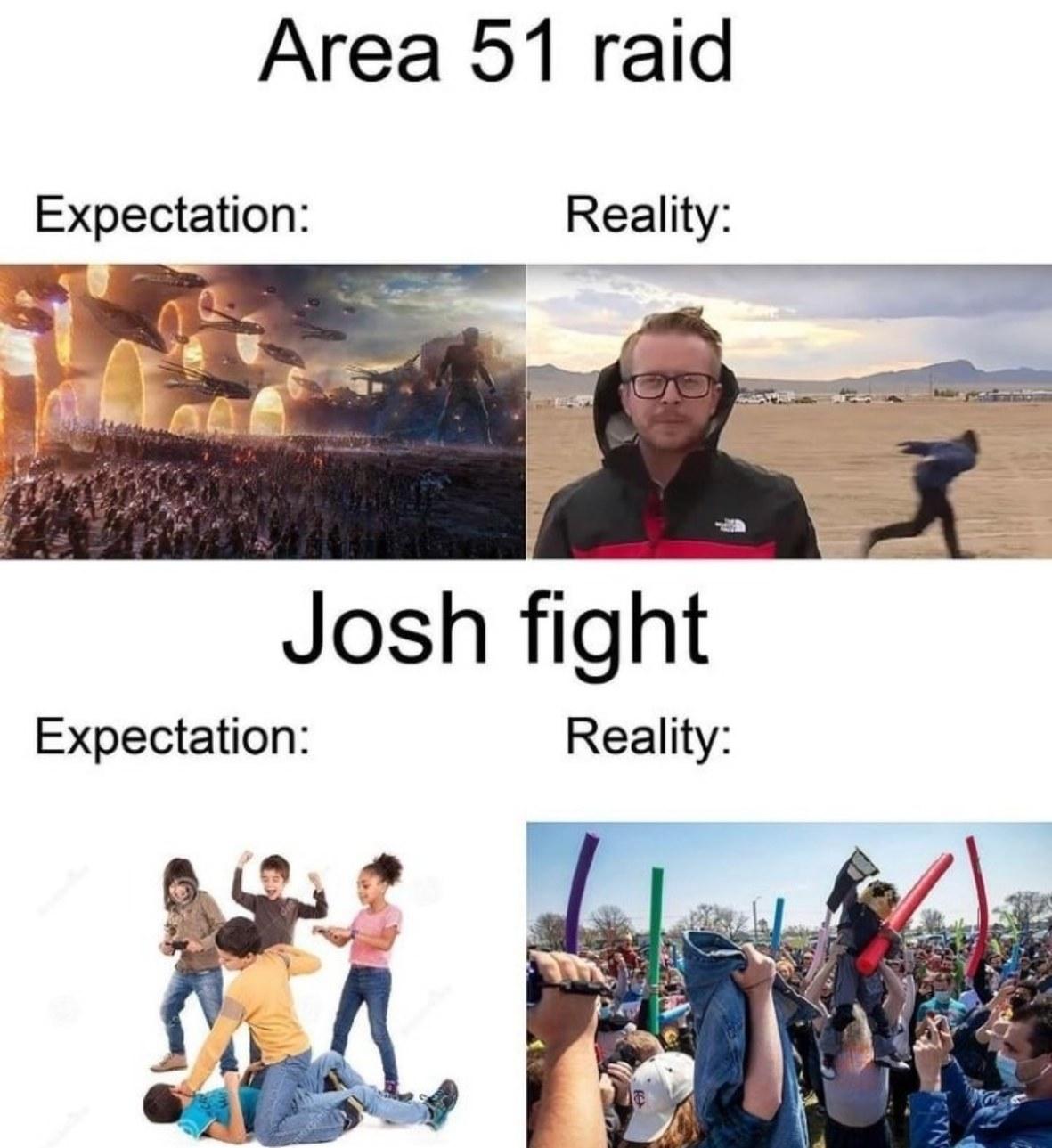 """Contexto: um monte de cara que se chama Josh se encontraram para brigar, o último que sobrasse é que seria o """"verdadeiro"""" Josh ou algo assim. - meme"""