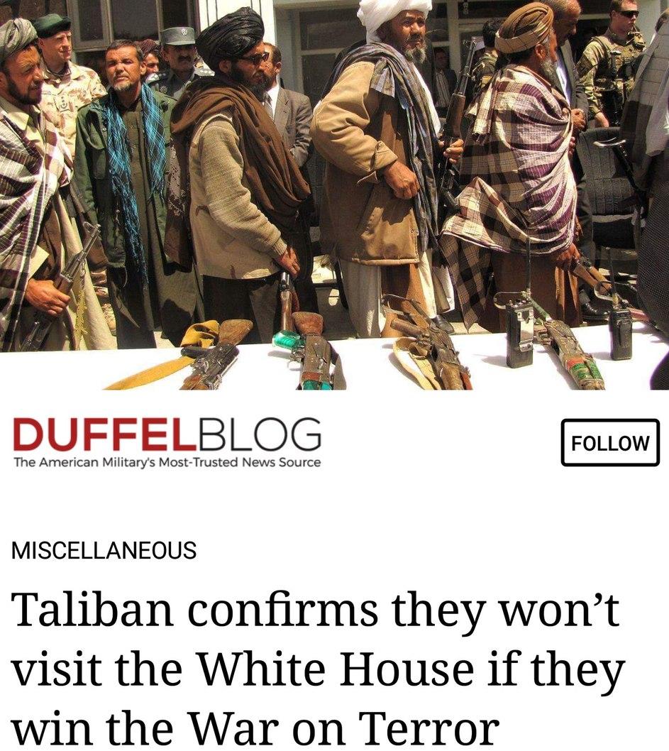 Boycott the Taliban - meme